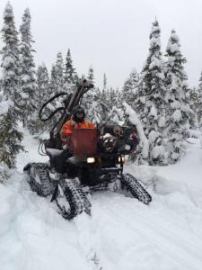 Feb 2012, 4 feet of snow, Firebag, Fort McMurray